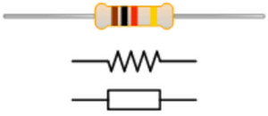 Resistor with symbol