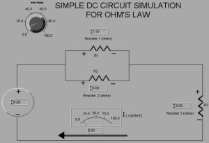 Simple DC Circuit Simulation using LabVIEW