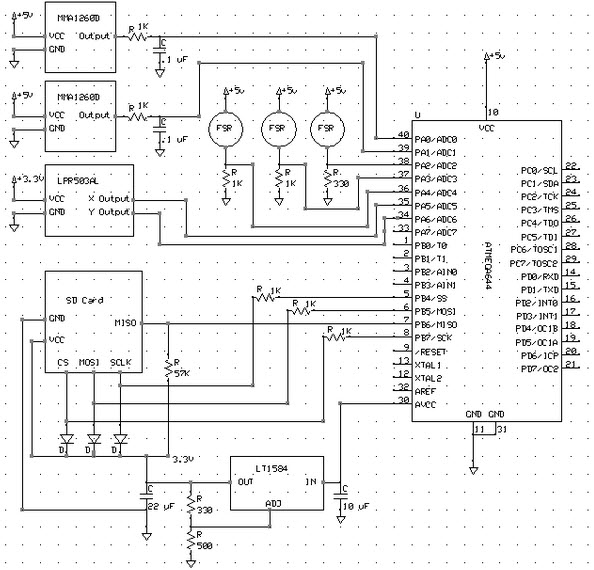 Foot Pronation Embedded System Circuit