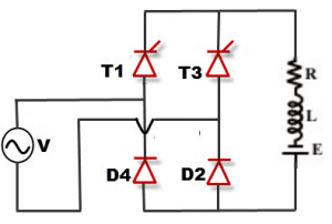 Single Phase Half Controlled Rectifiers