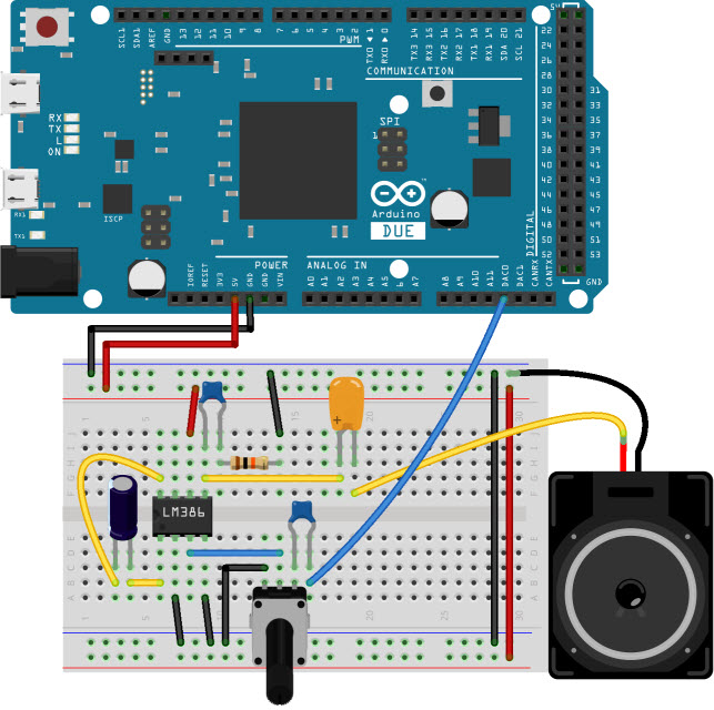 Arduino Music Player Schematic Circuit Diagram