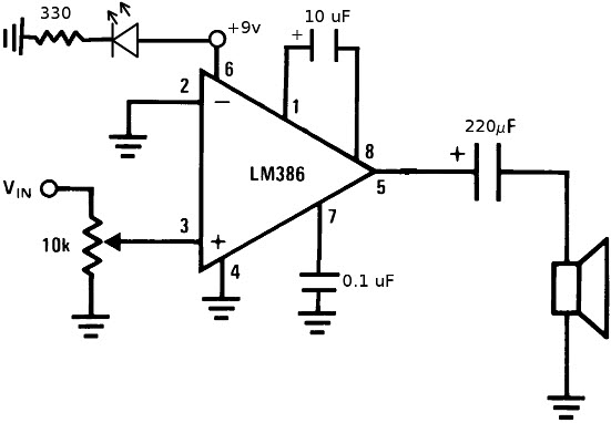 LM386 Schematic Diagram