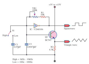 Square Wave Generator Circuit