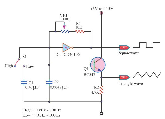square wave generator using op amp   electronic circuitssquare wave generator circuit