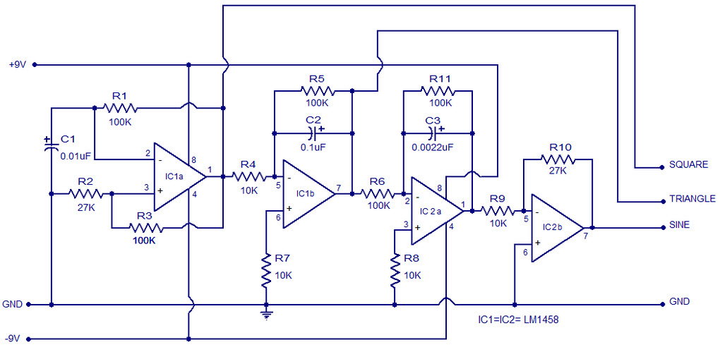 square wave generator using op-amp - electronic circuits,