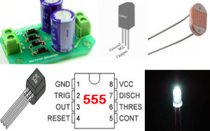 Automatic Night Lamp with Morning Alarm Circuit Hardware Components