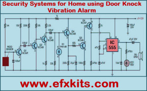 Security Systems for Home Using Door Knock Vibration Alarm Circuit Featured Image