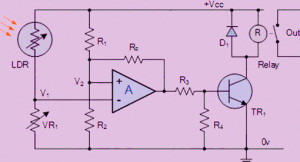 LDR basedf Wheatstone Bridge