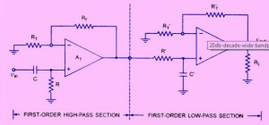 Wide Bandpass Filter Circuit