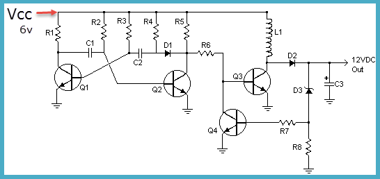 simple 6v to 12v dc converter circuit and its working rh efxkits us  6v to 12v converter circuit diagram