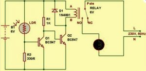 Circuit Diagram of Light Dependent Resistor
