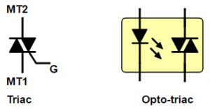 Discrete TRIAC and An Opto TRIAC