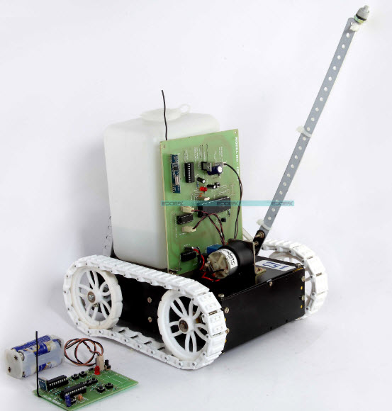 Fire Fighting Robotic Vehicle project Kit