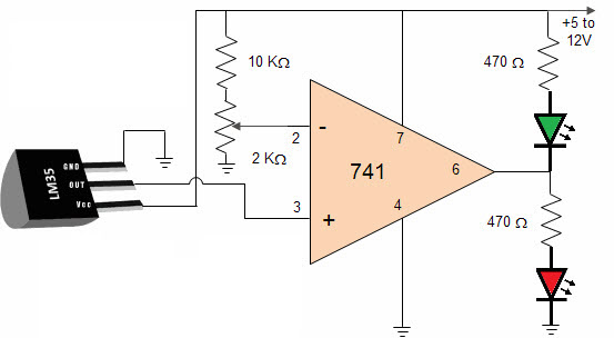 LM35 Circuit Diagram